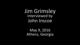 Thumbnail for entry Jim Grimsley interviewed by John Inscoe