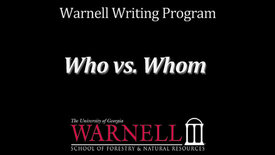 Thumbnail for entry Who vs. Whom