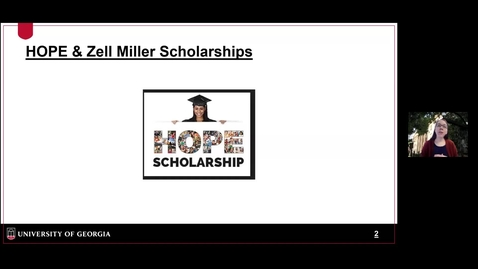 Thumbnail for entry OSFA - HOPE and Zell Miller Scholarships.mp4