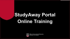 Thumbnail for entry StudyAway Portal Online Training - Part 1 of 4: Intro
