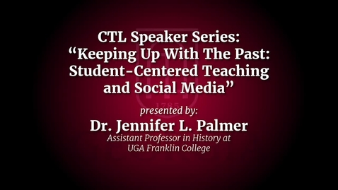 Thumbnail for entry UGA Faculty on Teaching - Jennifer Palmer
