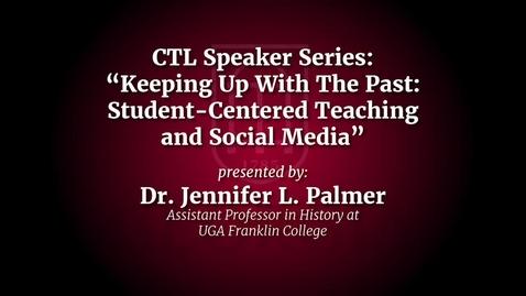 Thumbnail for entry UGA Faculty on Teaching - Jennifer Palmer