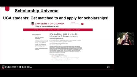 Thumbnail for entry OSFA - Scholarship Universe for UGA Students.mp4