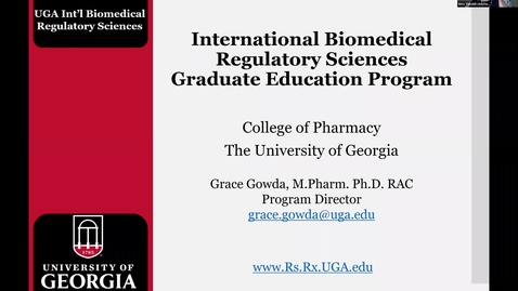 Thumbnail for entry Life Sciences Day 2020:  Intro to Regulatory Affairs Careers