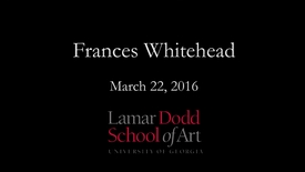 Thumbnail for entry Lecture: Frances Whitehead