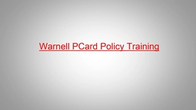Thumbnail for entry Warnell PCard Training