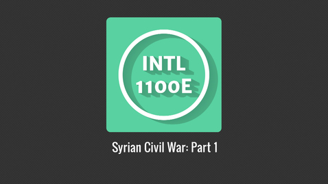 Thumbnail for entry INTL1100E_Syrian Civil War P1