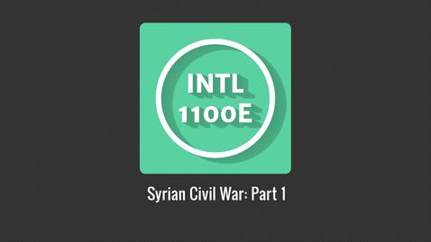 Thumbnail for entry INTL1100E_Syrian Civil War P1
