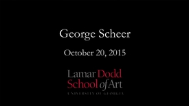 Thumbnail for entry Lecture: George Scheer