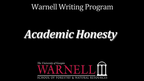 Thumbnail for entry Academic Honesty & Writing