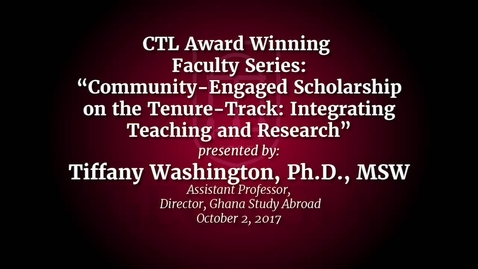 Thumbnail for entry UGA Faculty on Teaching - Tiffany Washington