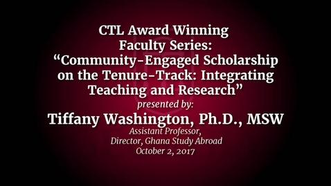 Thumbnail for entry UGA Faculty on Teaching - Tiffany Washington