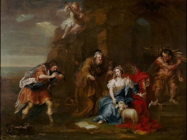 William Hogarth, Scene form Shakespeare's The Tempest, circa 1735.  St. Oswald Collection, Nostell Priory at Wakefield (National Trust)