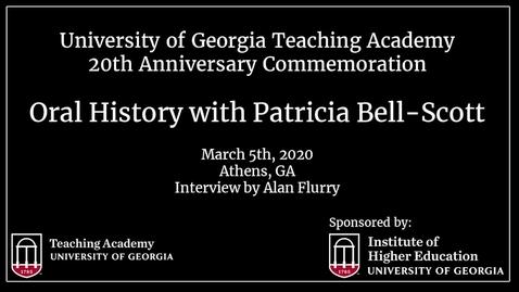 Thumbnail for entry UGA Teaching Academy - Patricia Bell-Scott