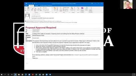 Thumbnail for entry Research: Approving a Transmittal Form for a Research Proposal