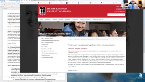 Thumbnail for entry Human Resources: Posting a Staff Position to the Chronicle of Higher Education