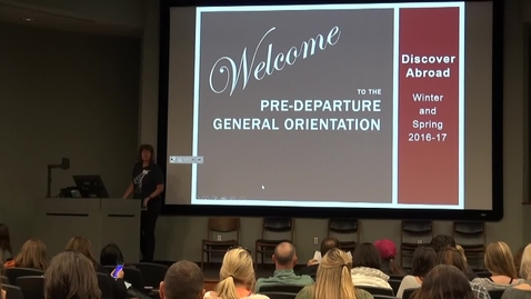 Thumbnail for entry Discover Abroad General Orientation Winter/Spring 2016-17