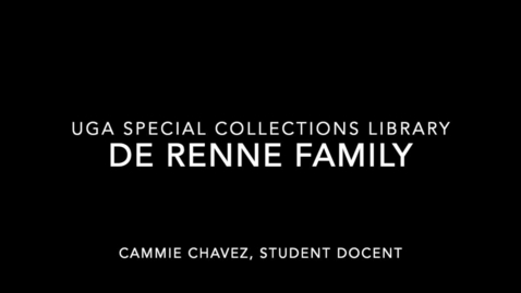 Thumbnail for entry Gallery Highlight: The DeRenne Family