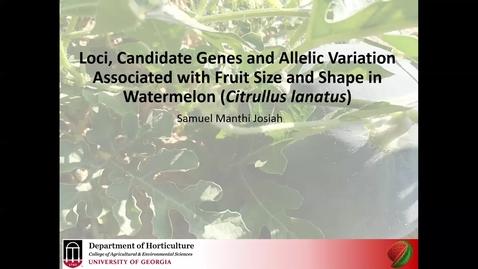 Thumbnail for entry Horticulture Seminar - Samuel Manthi 4/1/20