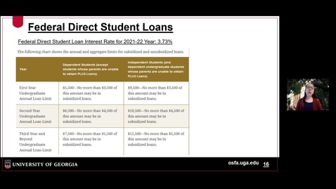 Thumbnail for entry OSFA - Federal Student Loans.mp4
