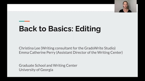 Thumbnail for entry 5. Back to Basics: Editing