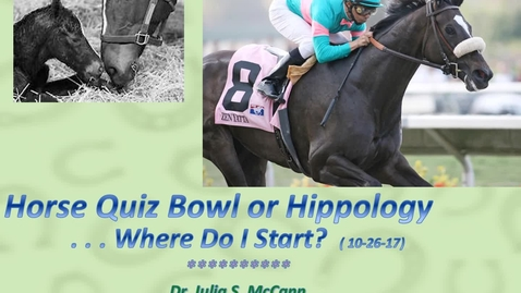 Thumbnail for entry Quiz Bowl/Hippology Part THREE:  Contest Day!
