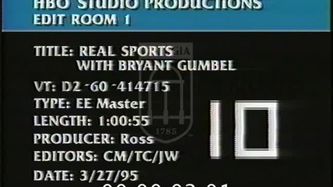 Thumbnail for entry Real Sports with Bryant Gumbel. [No. 1, 1995-04-02] | 95177ent-1
