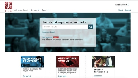Thumbnail for entry Advanced Searching in JSTOR