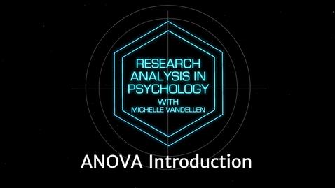 Thumbnail for entry Lightboard: ANOVA Introduction