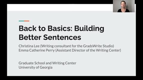 Thumbnail for entry 1. Back to Basics: Sentences