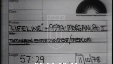 Thumbnail for entry Lifeline. [1978-09-07], William Morgan, M.D. | 1 of 2 | 78006ent-1
