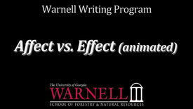 Thumbnail for entry Affect vs. Effect (animated)