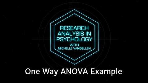 Thumbnail for entry Lightboard: One Way ANOVA Example