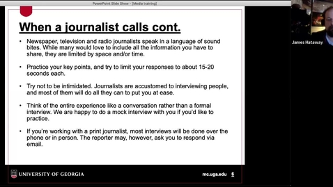 Thumbnail for entry Communicating Research: Media Relations (Part 2 from 10/20/20)