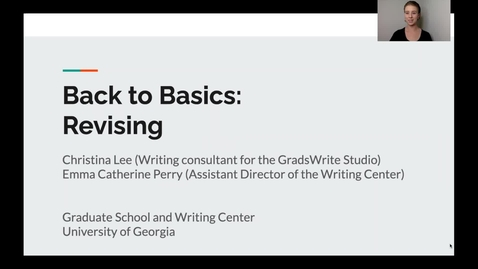 Thumbnail for entry 4. Back to Basics: Revising
