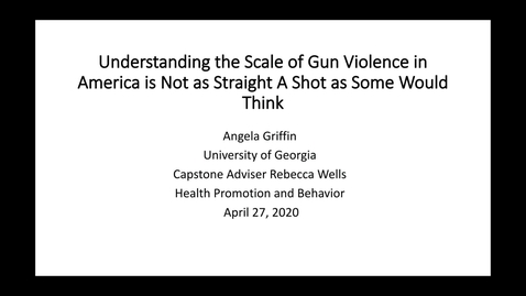 Thumbnail for entry Griffin-Angela-HPB-GunViolencefinal