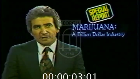 Thumbnail for entry KMOX news (St. Louis, Mo.). 1978-11. Night (10:00 feed)--excerpts, Marijuana, the Billion Dollar Industry | 1 of 1 | 78025nwt
