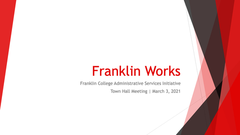 Thumbnail for entry Franklin Works Town Hall (Part 1)