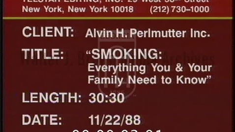 Thumbnail for entry Smoking: Everything You and Your Family Need To Know | 89001pst