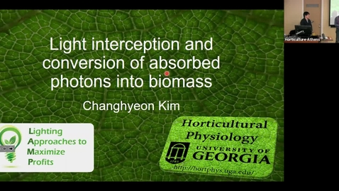 Thumbnail for entry Horticulture Seminar - Changhyeon Kim 1/29/20