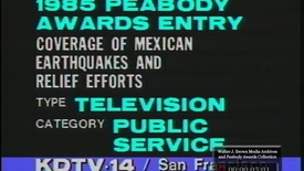 Thumbnail for entry Coverage of Mexican Earthquakes and Relief Efforts | 85092pst