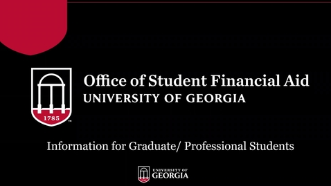 Thumbnail for entry Fall 2021 Graduate Student Financial Aid Information