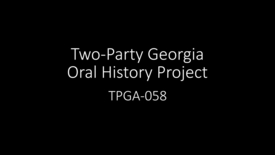 Thumbnail for entry Teresa Tomlinson, Two-Party Georgia Oral History Project