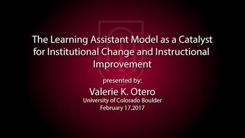 Thumbnail for entry CTL Speaker Series - Valerie Otero