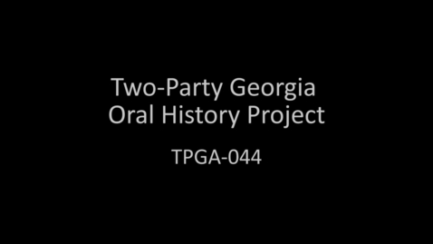 Thumbnail for entry Gordon Giffin, Two-Party Georgia Oral History Project