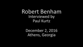 Thumbnail for entry Judge Robert Benham, Goin' Back: Remembering UGA Oral History Collection