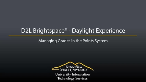 Thumbnail for entry Grades - Managing Grades in the Points System