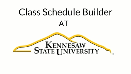 ksu office of the registrar class schedule builder
