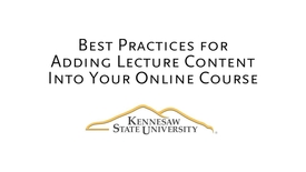 Thumbnail for entry Research-based Best Practices for Instructional Videos