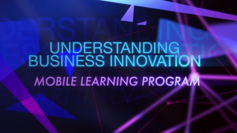 Thumbnail for entry TRAILER - Understanding Business Innovation